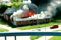 Pożar na Orunii - Małomiejska