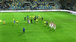 Podziękowania po meczu Arka - Cracovia 2:0