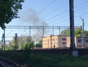 Pożar osada kolejowa