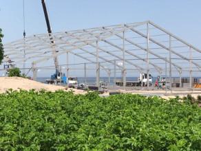 Budowa hali na plaży w Sopocie