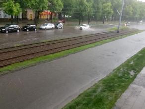 Powódź na Hallera we Wrzeszczu
