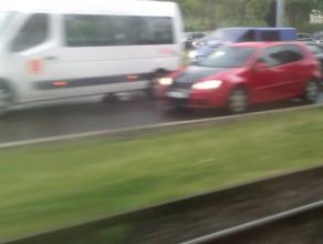 Paraliż drogowy na al. Zwycięstwa w Gdańsku