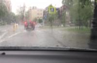 Ulewa i gradobicie w Sopocie
