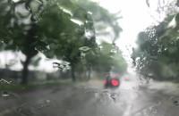 Deszcz na Chrobrego we Wrzeszczu