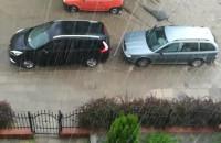 Zerwany asfalt na Śniadeckich we Wrzeszczu