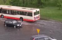 Skutki ulewy na Dąbrowszczaków na Przymorzu