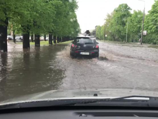 Paraliż drogowy al. Zwycięstwa w Gdańsku
