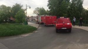 Strażacy ściągają sprzęt na Ołowiankę