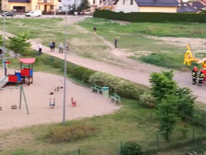 Śmigłowiec LPR lądował przy ulicy Radosnej w Gdyni