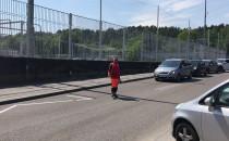 Korek przy PKM Stadion na ul. Sportowej w...