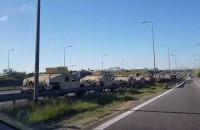 Kolizja ciężarówki z kolumną amerykańskich żołnierzy