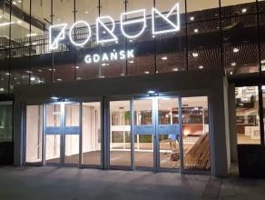 Zamknięte przejście przez Forum Gdańsk