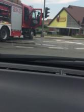 Skutki wypadku na krzyżówce Jabłoniowa/Przywidzka