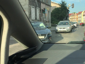 Kolizja na skrzyżowaniu Małomiejskiej i Zamiejskiej
