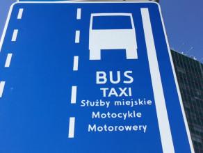 Powstał buspas przy Zieleniaku