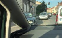 Kolizja na skrzyżowaniu Małomiejska/Zamiejska