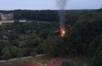 Pożar na działkach na Witominie