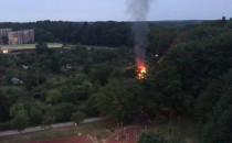 Pożar na działkach na Witominie Leśniczówce
