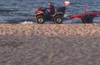 Akcja ratunkowa na plaży w Jelitkowie-Brzeźnie