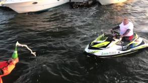 Bez nogi przepłynął na skuterze wodnym z Warszawy do Gdańska