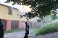Pożar pustostanu na ul. Legnickiej w Gdańsku