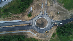 Nowy zbiornik i droga w Osowej