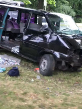 Rozbity samochód na Zwycięstwa we Wrzeszczu