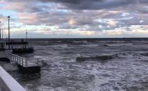 Wzburzone morze w Brzeznie