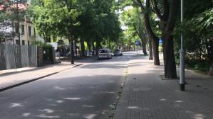 Straż miejska pilnuje zakazu wjazdu do mola w Orłowie