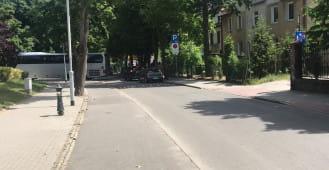 Koniec ul. Orłowskiej w Gdyni zamknięty dla aut