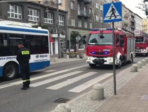 Akcja strażaków przy Baltiq Plazie w Gdyni