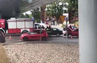 Skutki wypadku motocyklisty we Wrzeszczu