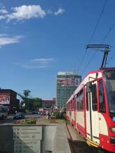 Korek tramwajowy w Gdańsku Głównym