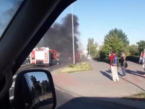 Pożar autobusu na Chełmie