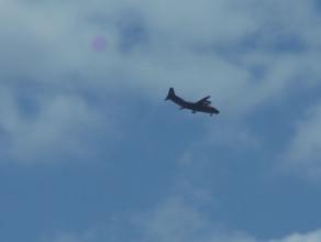 Antonow An-12 na gdańskim niebie