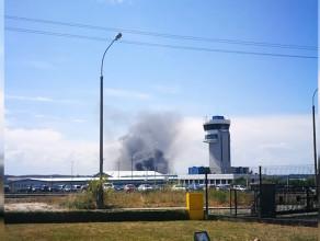 Pożar przy ul. Budowlanych w Gdańsku