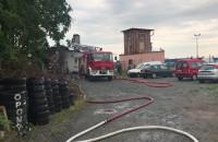 Skutki pożaru złomowiska w Gdańsku