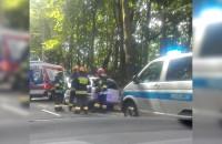 Wypadek na Kolibkach korek ciągnie się do Klifu