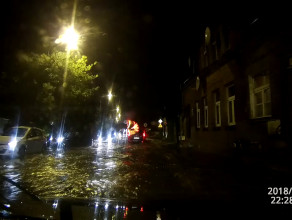 Potop na ul.Podmiejskiej i Małomiejskiej