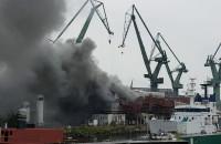 Pożar w Stoczni Nauta