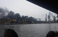 Pożar na terenach stoczniowych