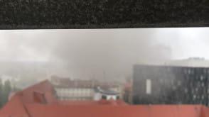 Pożar w stoczni. Zadymiony Gdańsk