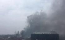 Pożar w stoczni