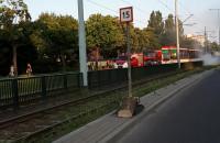 Pożar tramwaju na Pomorskiej