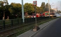 Zapalił się tramwaj na ul. Pomorskiej