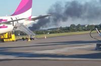 Pożar za lotniskiem
