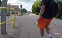 Rowerzysta wjechał w pieszego