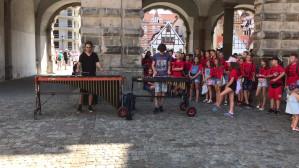 Koncert na marimbę i ksylofon przy Zielonej Bramie