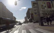 Rowerzysta - kosmita w Gdyni