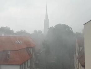 Oberwanie chmury we Wrzeszczu